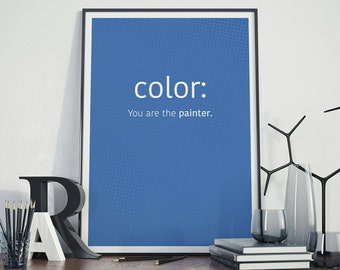 Color CSS Code Print, Art Print For Geeks, Web Designers, Wall Art Decor,Office Quote Computer Coding Programming HTML