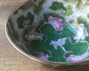 Asian Decorative phoenix and lotus bowl