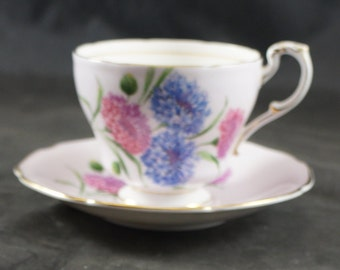 PARAGON Finw Bone China Cup & Saucer PINK With FLOWERS