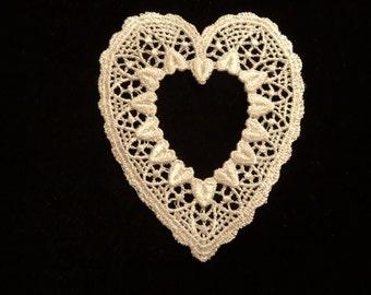 Venise Lace Hearts - Lot of 6