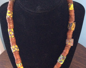 Vintage African trade beads amber
