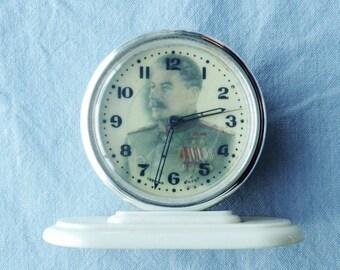 A Vintage CCCP Wind Up Alarm Clock