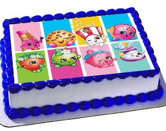 Shopkins Edible Cake Topper, Shopkins Birthday Party, Frosting Sheet, Edible Images