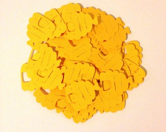 Bumble Bee Hive Confetti - 100 pcs - Bee Hive Confetti - Bumble Bee Baby Shower - Bumble Bee Party Decorations - Bumble Bee Party