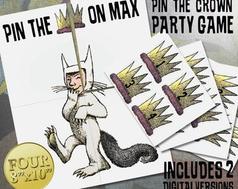Where the Wild Things Are Theme: Pin the Crown On Max Party Game Digital File