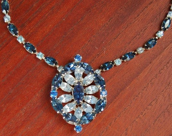 Weiss Vintage Blue Necklace