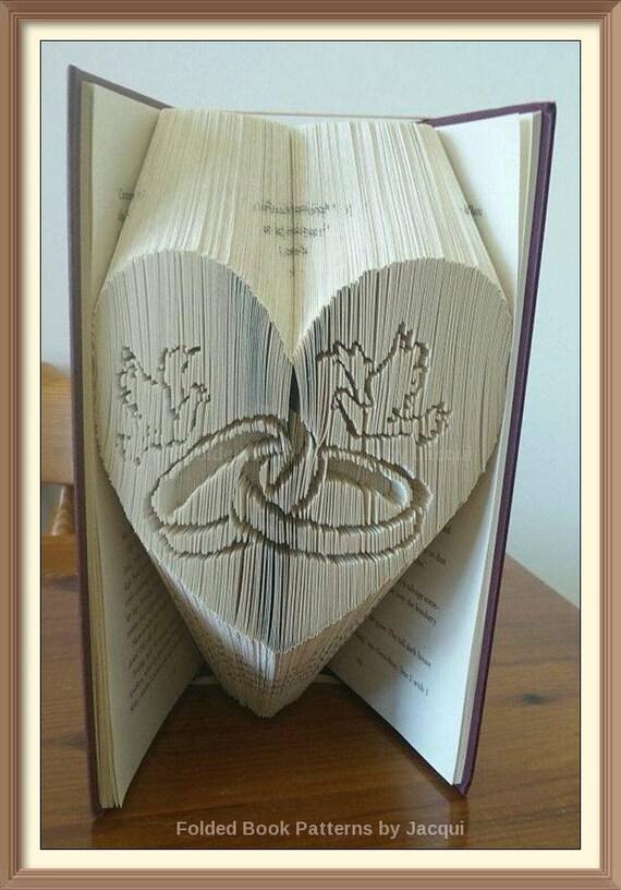 book folding heart instructions