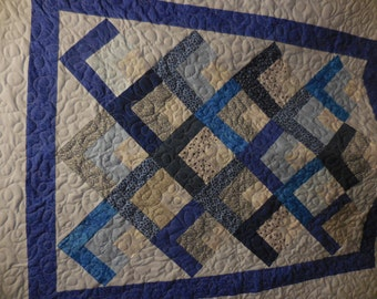 Quarter Log Cabin Lap Quilt~ Can be Customized for You