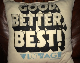 "Vintage at Goodwood ""Good Better Best"" Cushion"