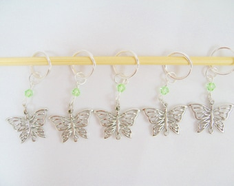 Butterfly Markers Featuring Swarovski Crystals - Peridot/Light Green - Free US Shipping!
