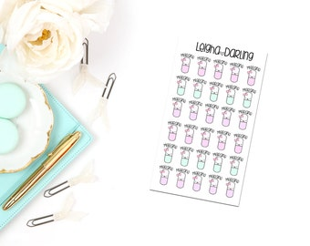 Kawaii Migraine Planner Stickers