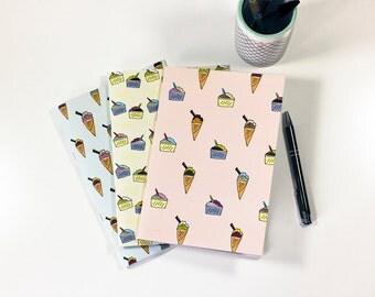 A6 Ice Cream Notebooks
