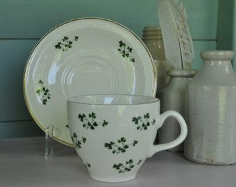 Shamrock cup and saucer Carrigaline