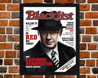 Framed The Blacklist James Spader TV Series Poster A3 Size Mounted In Black Or White Frame (Ref-1)
