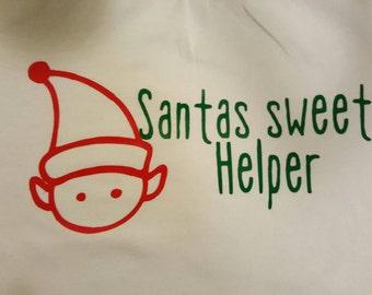 Elf santas helper shirt