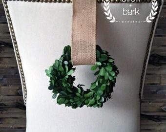 "Home Decor - Preserved Boxwood Wreath - Indoor Wreath - Wall Decor - 6"" Preserved Boxwood Decor"