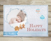 Christmas Card Template - Christmas Photo Card,holiday card templates