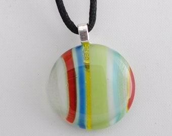 """Multicolored  Glass 1"""" Pendant"""