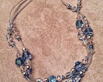 Vintage Swarovski Crystal Double Strand Necklace