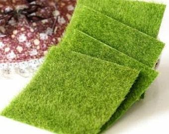 2 PCS Miniature Artificial Fake Green Moss Lawn DIY Micro Landscape Decoration