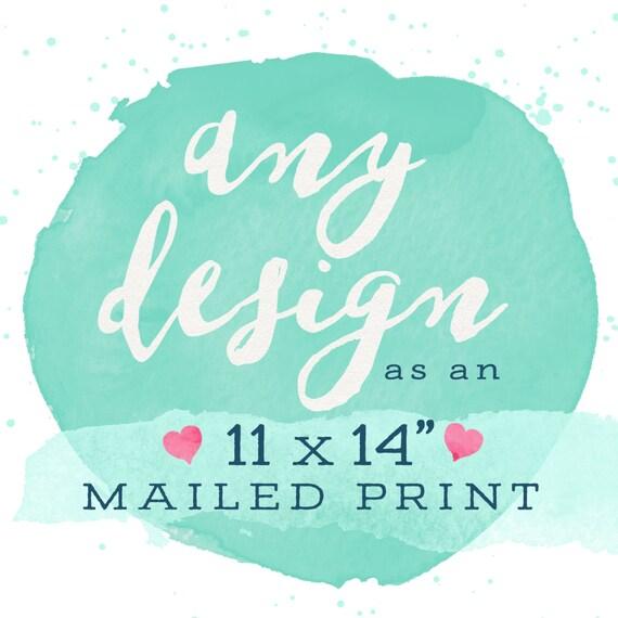 "Adoren Studio - Print & Mail My Design! 11x14"""