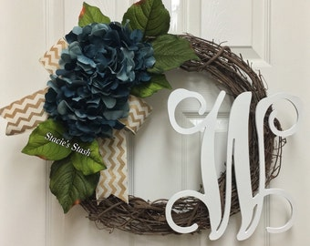 Initial Wreath for Front Door