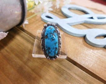 Sterling Silver Turquoise Nugget Ring