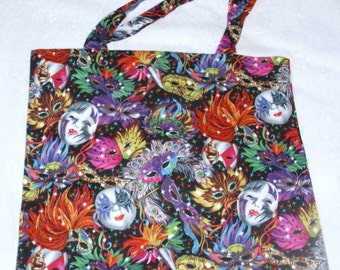 Carnival masks shopping bag