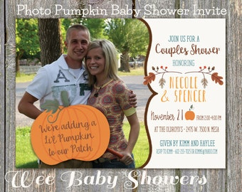 Pumpkin Baby Shower Invite