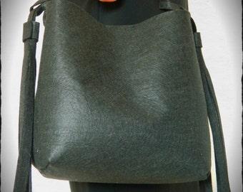 Black handbag with fringes