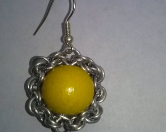 two pairs of chainmail  earrings