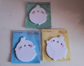 Kawaii/ Cute Molang sticky notes