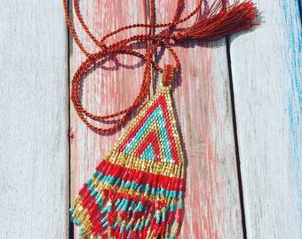 Miyuki Bead Tassel Necklace