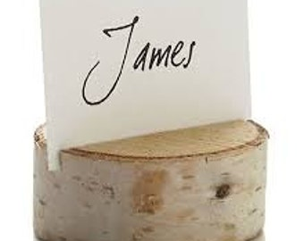 Free shipping!!!!   15 Wood Slices Wedding  Card  Holders
