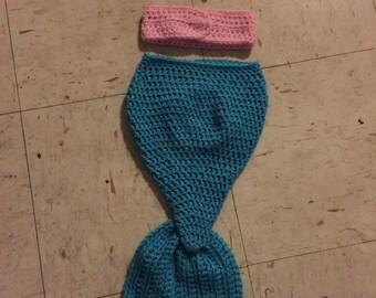 Crochet newborn mermaid set