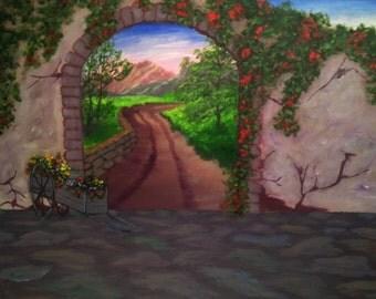Flowering Villa Wall