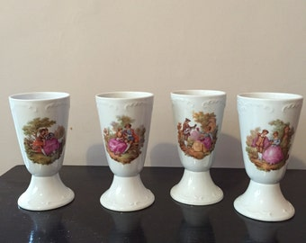 Stunning Limoges Porcelain Coffee Cups