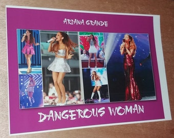 Ariana Grande, printed posters, A4, photo Ariana, dangerous woman.