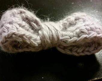 Grey crocheted bow
