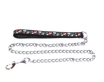 Dog lead chain  'Skull & Crossbone' chain lead