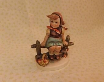 Vintage Hummel Figurine of a Girl on Fence