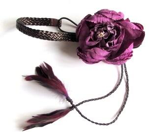 Flower & Feather Headband