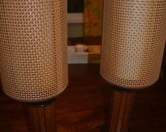 A pair of Mid Century Danish Modern Lamps Teak
