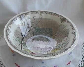Vintage Shakespeares Sonnets Vegetable Bowl