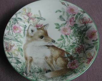 Royal Kendal Fine Bone China Sheila Mannes Abbott Collection Fox Plate