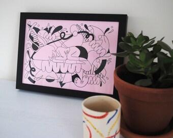 A4 Art print illustration