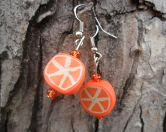 Orange You a Cutie!  Earrings