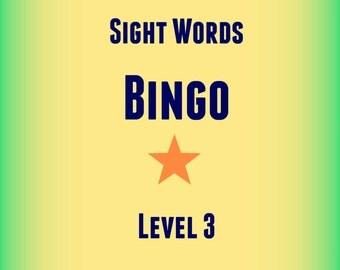 Sight Words Bingo (1st Grade)!