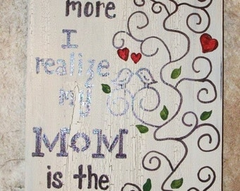 Birds and Vine Mom sign