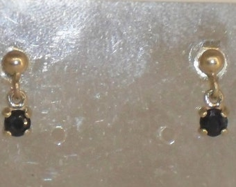 Blue Sapphire earring 925 sterling silver and precious stone